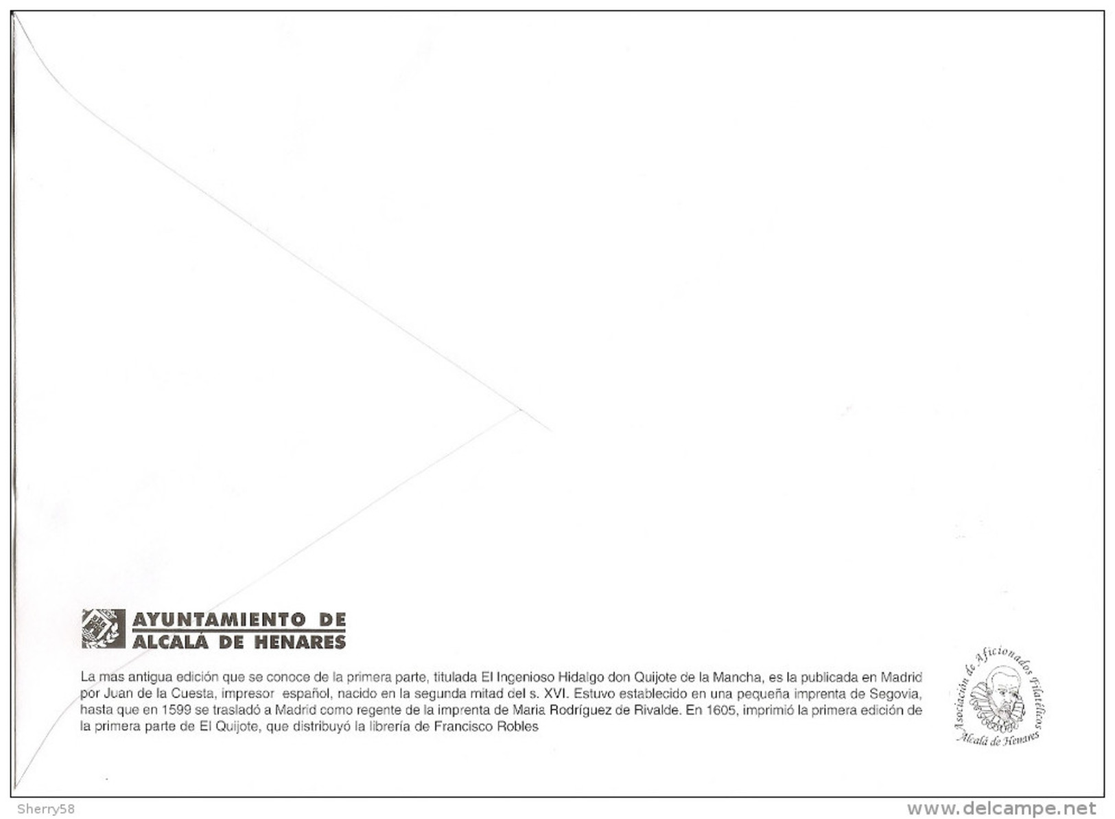 2005-ED. 4161 H.B. IV CENT. DE '' EL QUIJOTE ''EXPO FILATÉLICA ALCALA DE HENARES- SOBRE  Y MAT. ESPECIAL EXPO - FDC