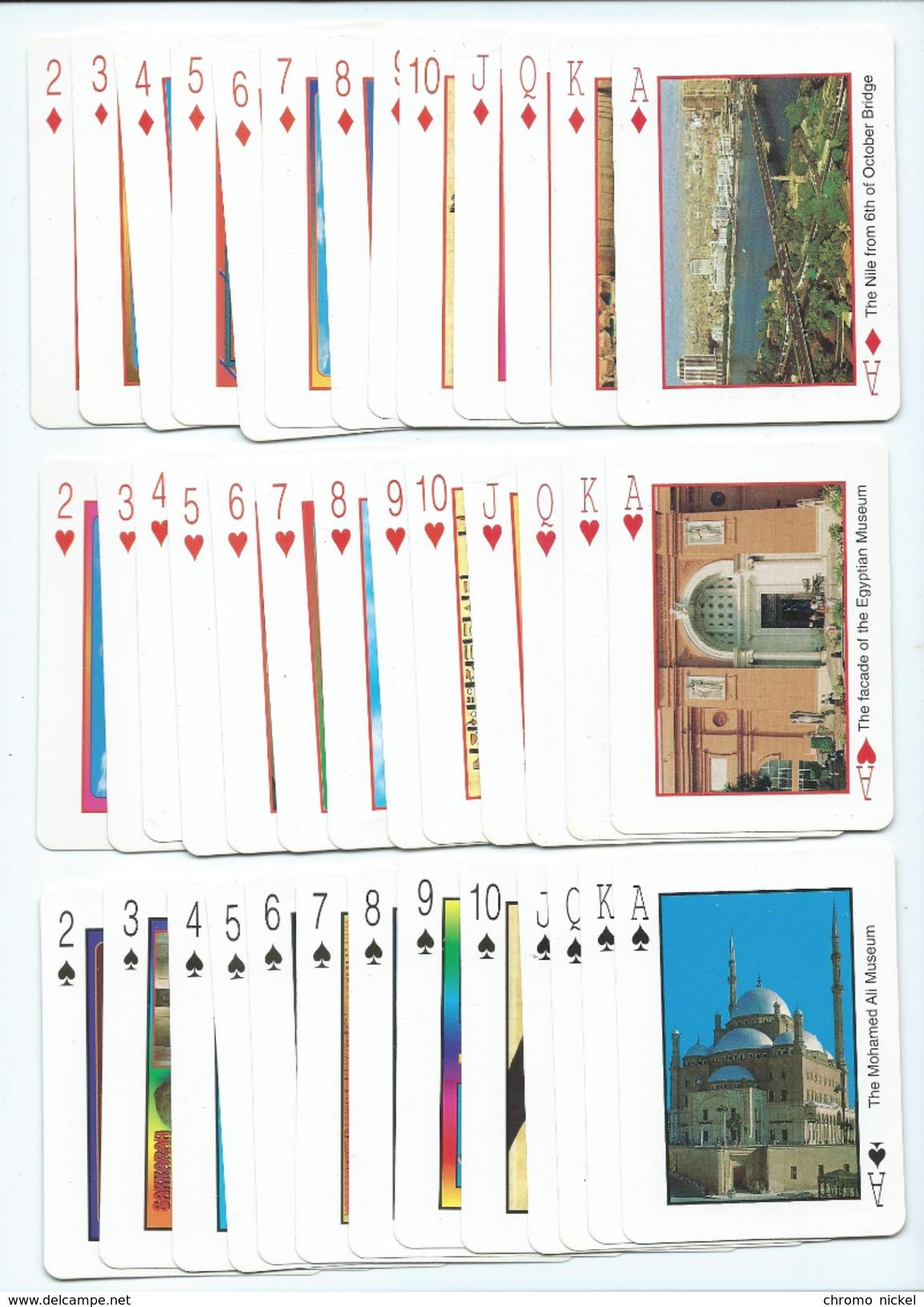 """Egypte Egypt Jeu De 52 Cartes + 2 Jokers """" Pharaonic """" 90 X 65 Mm Cartonné Neuf Avec La Boîte  Voir 5 Scans - Jeux De Société"""
