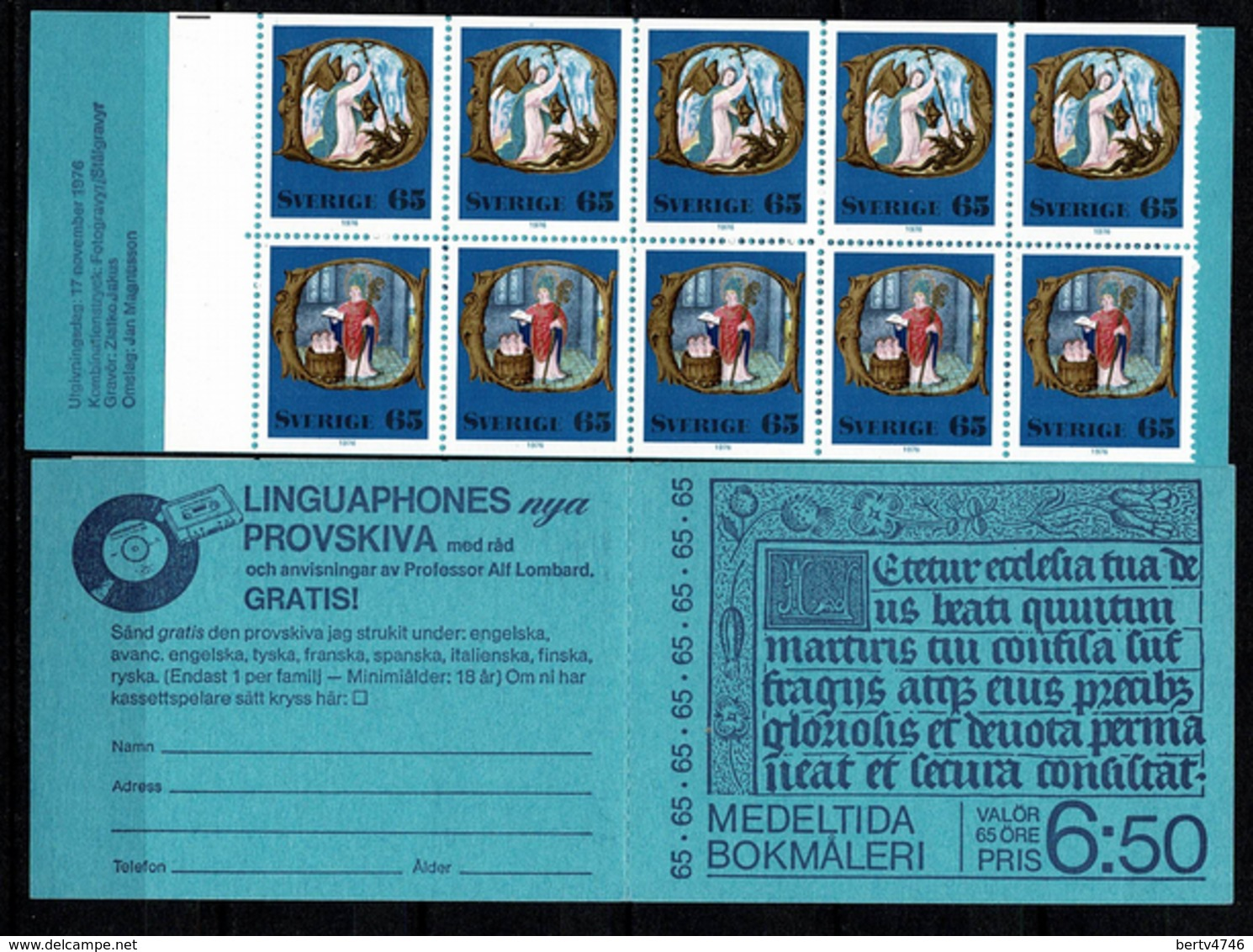 Sverige 1976  Yv  C946** Boekje/carnet 946** Complete Booklet - Carnets
