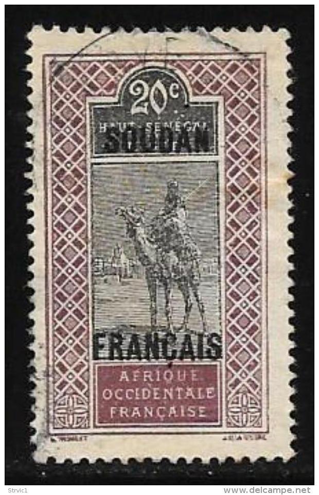 French Sudan Scott # 30 Used Upper Senegal And Niger Stamp Overprinted, 1921 - Sudan (1894-1902)