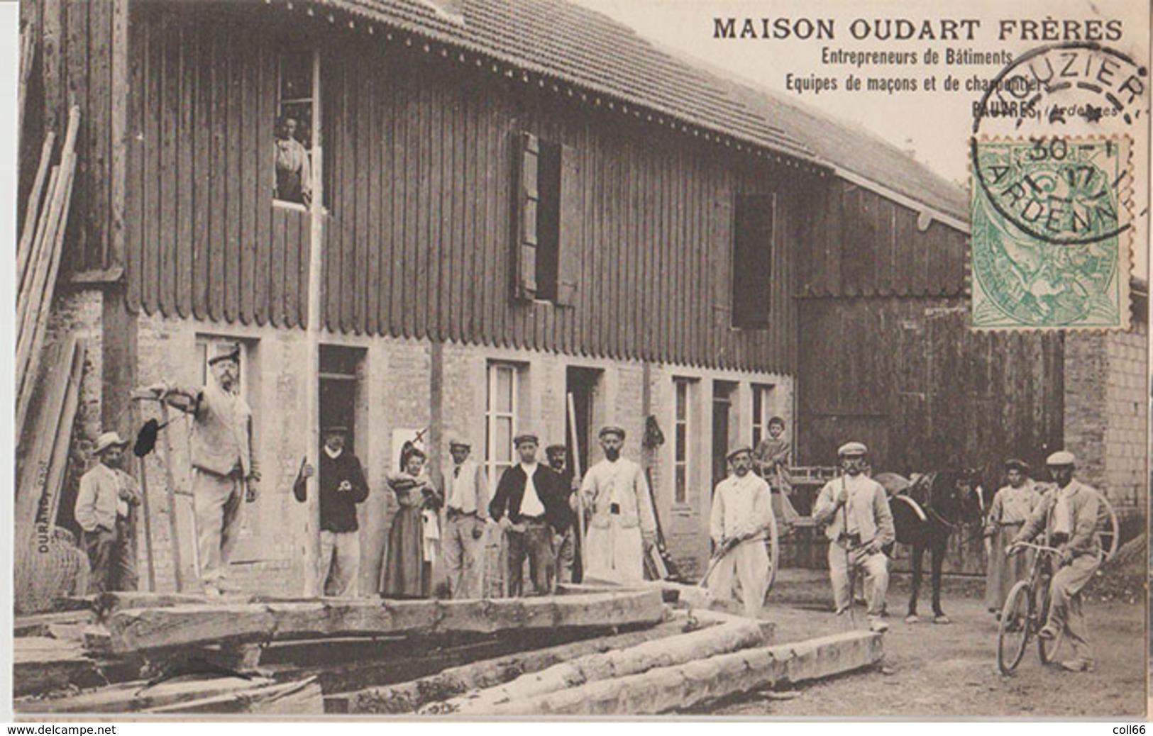 08 Pauvres 1907 RARE Maison Oudart Frères Entrepreneurs De Batiments éditeur Sans Dos Scanné - France