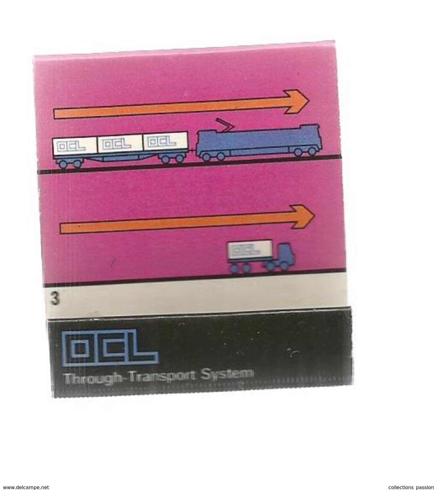 G-I-E, Tabac, Boite, Pochette  D'ALLUMETTES, Publicité, 2 Scans, OCL, Overseas Containers, London, SS Moreton Bay - Matchbox Labels