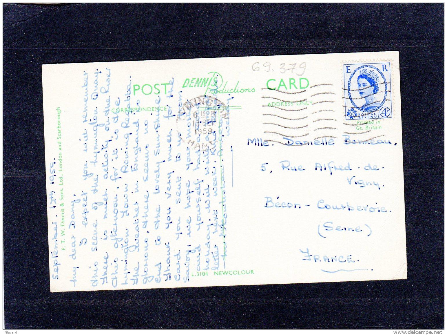 69379    Regno  Unito,  The  Quai,  Lymingston,  Hants.,  VG  1959 - Inghilterra