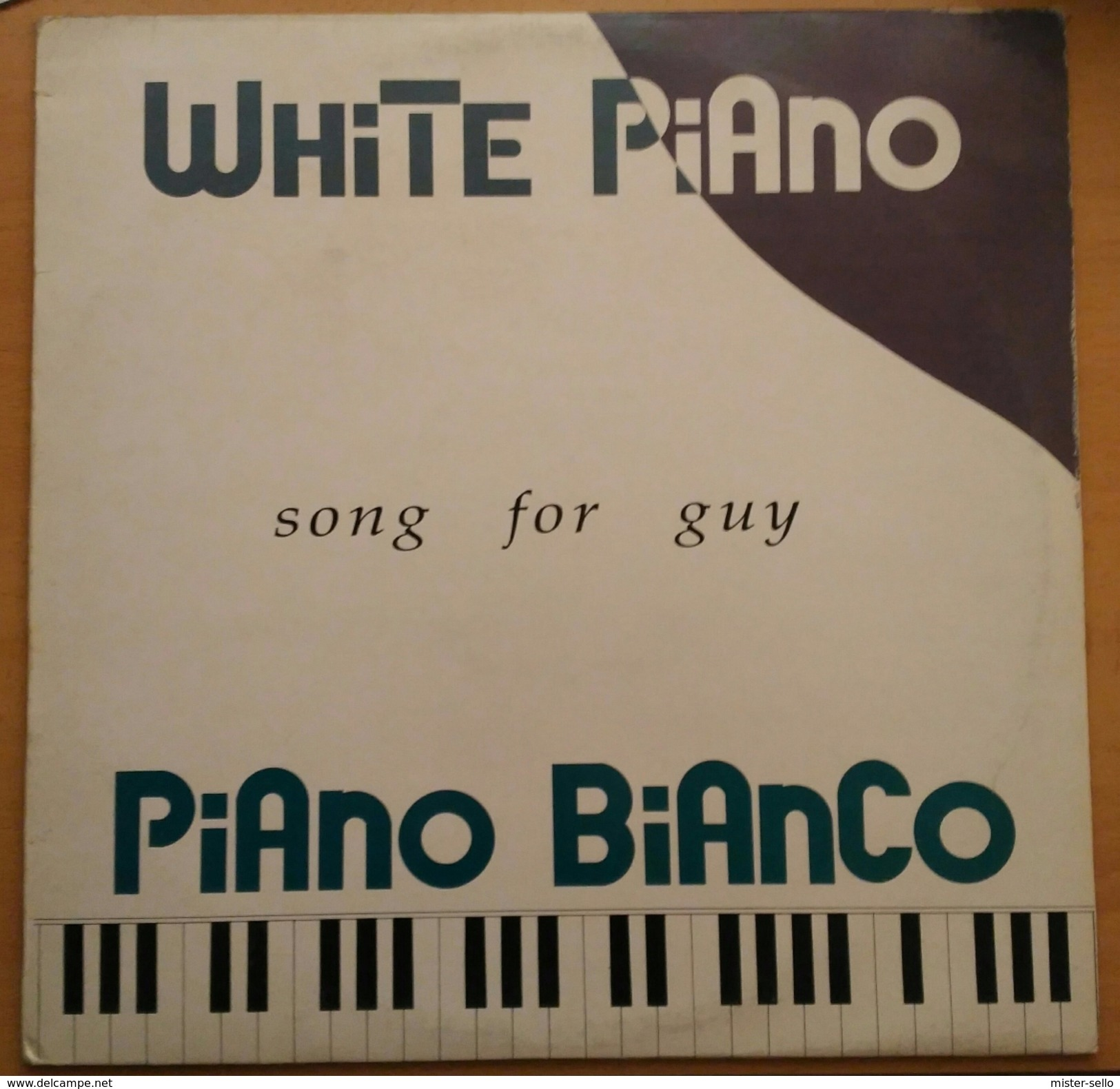 WHITE PIANO - SONG FOR GUY. USADO - USED. - 45 T - Maxi-Single