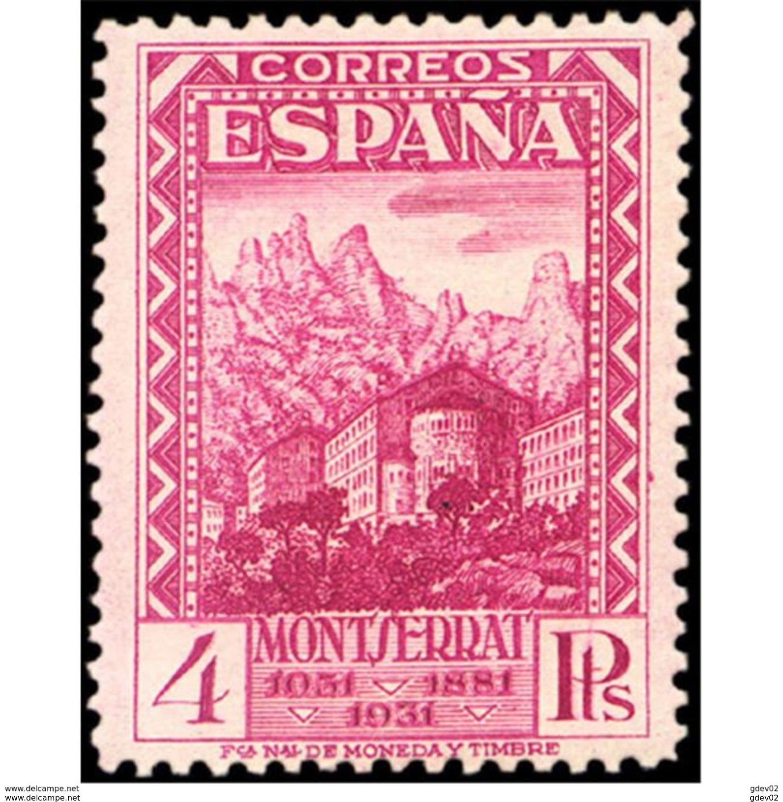 ES647STV-LTV***647STRCRI.Spain.Esgane.Monasterio De La VIRGEN DE MONTSERRAT 1931 (Ed 647**) - Cristianismo
