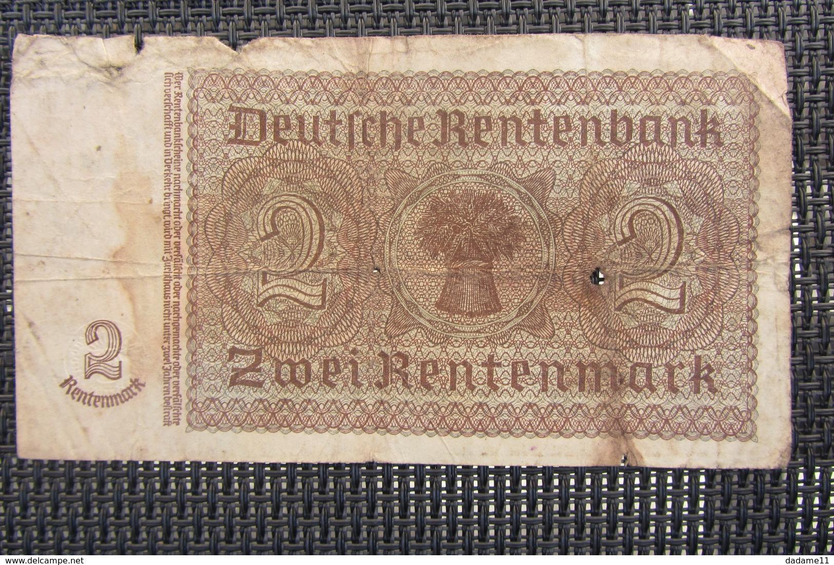 Allemagne 2 Rentenmark 1937 - [ 4] 1933-1945 : Third Reich