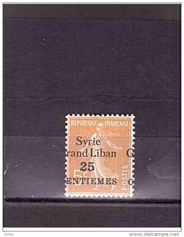 85  **  Y&T  Type Semeuse Fond Plein *SYRIE Colonie*  16/43 - Neufs