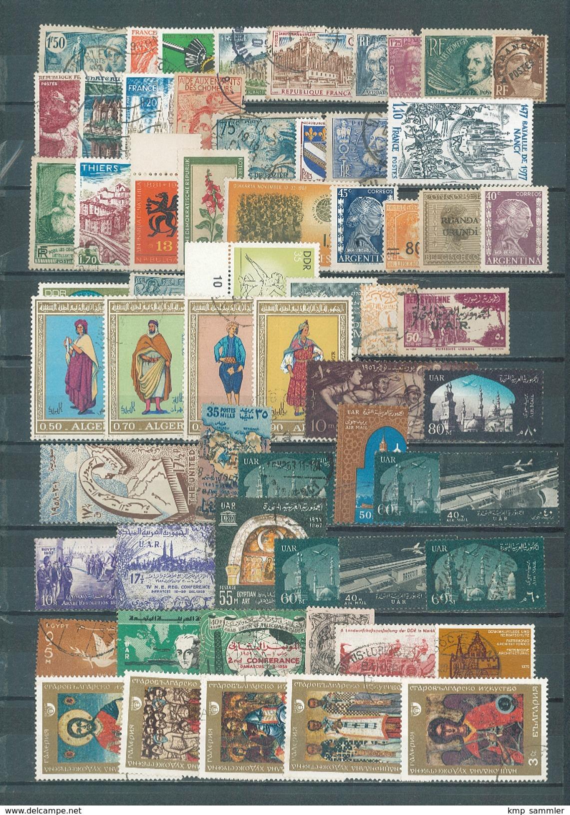 Lot Alle Welt Meist Gestempelt (12728) - Briefmarken