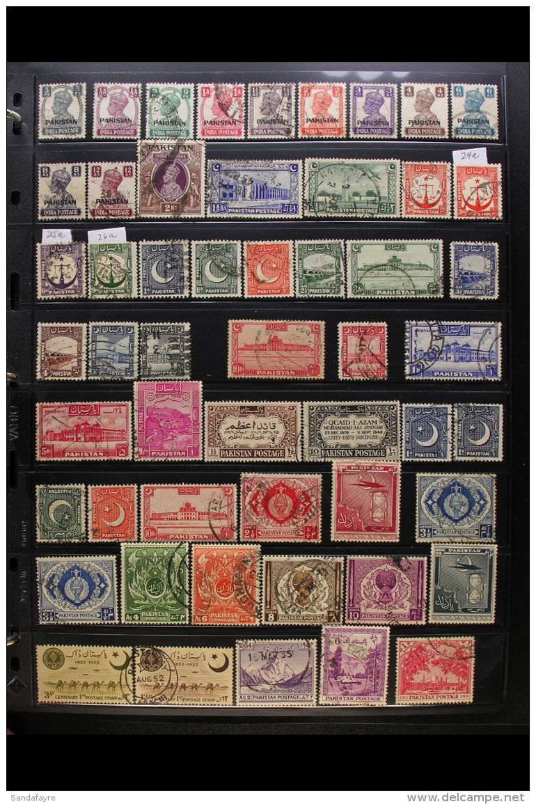 """1947-1996 EXTENSIVE USED COLLECTION. An ALL DIFFERENT Used Collection With """"Better"""" & """"Top"""" Values, Complete... - Pakistan"""