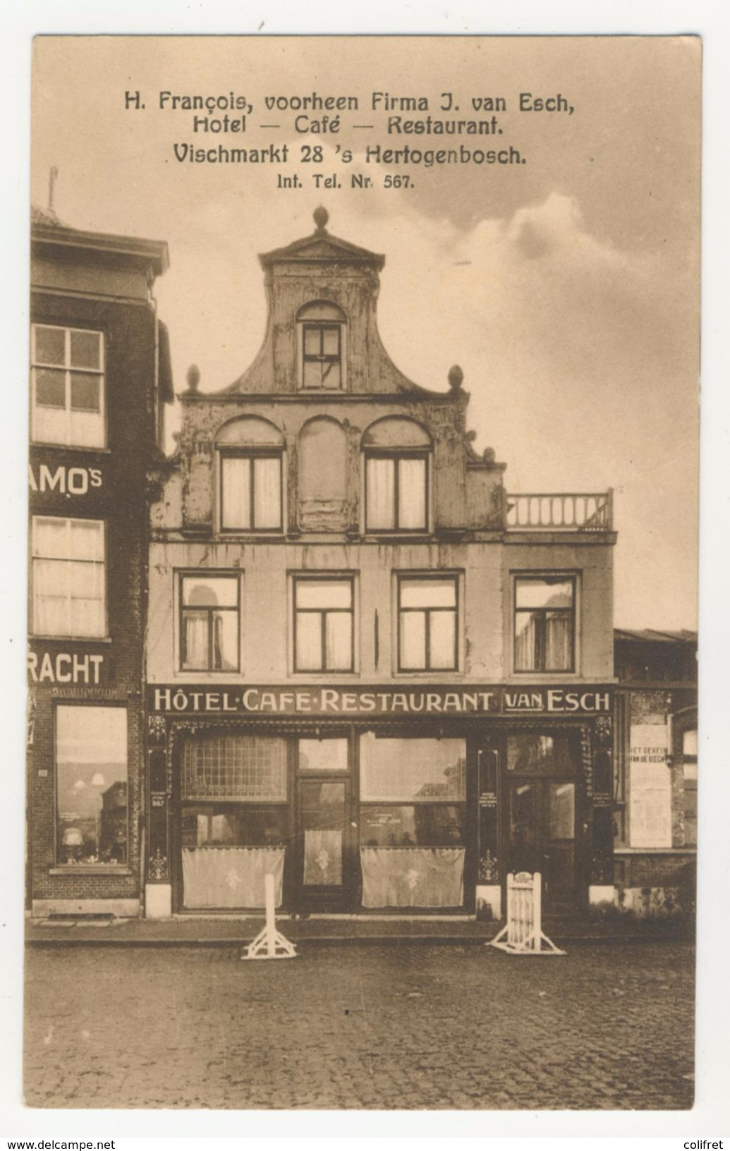 Noord-Brabant          S Hertogenbosch            Hôtel - Café - Restaurant        Vischmarkt 28 - 's-Hertogenbosch