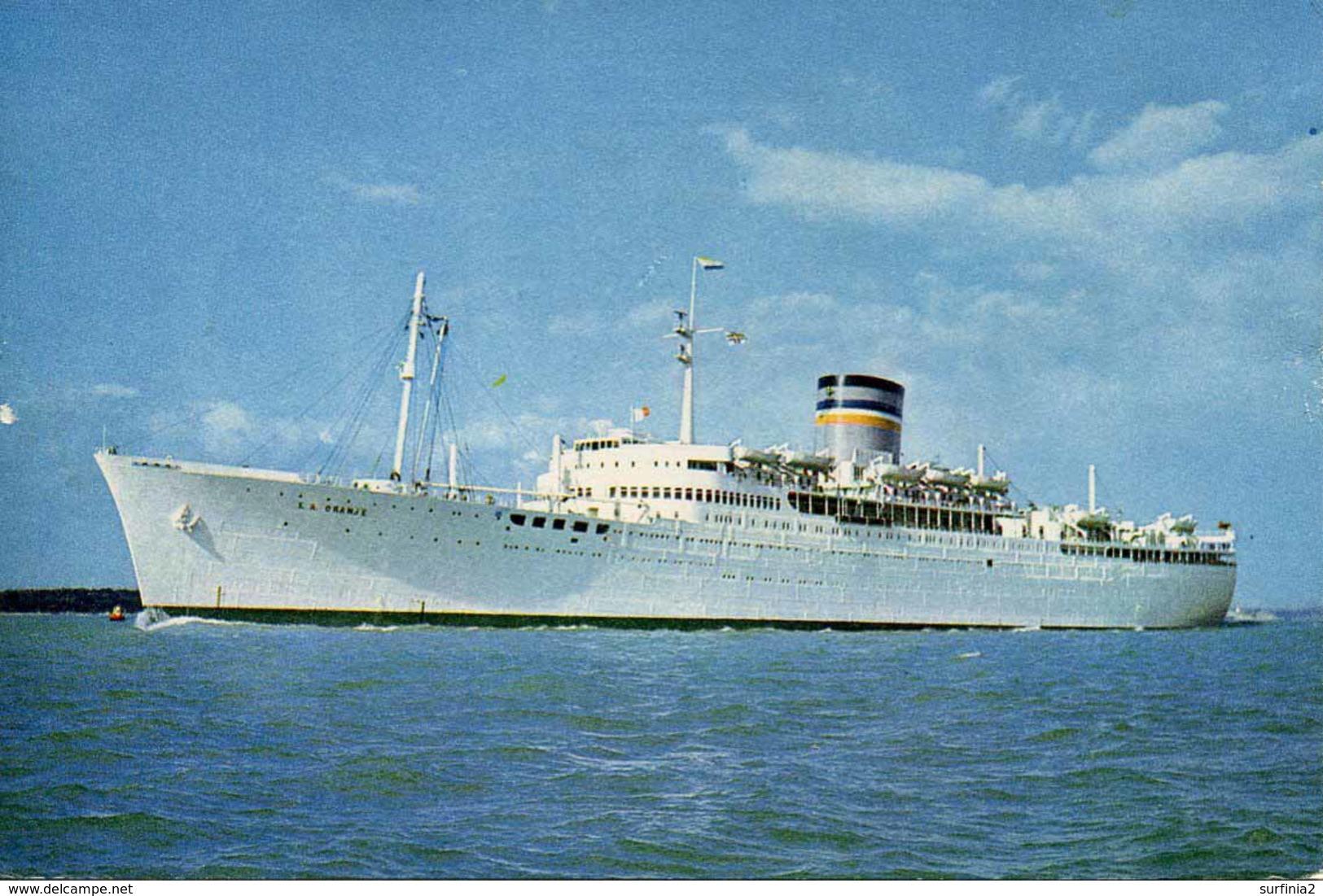 SHIPPING - J ARTHUR DIXON - S.A. ORANJE  Ship70 - Steamers