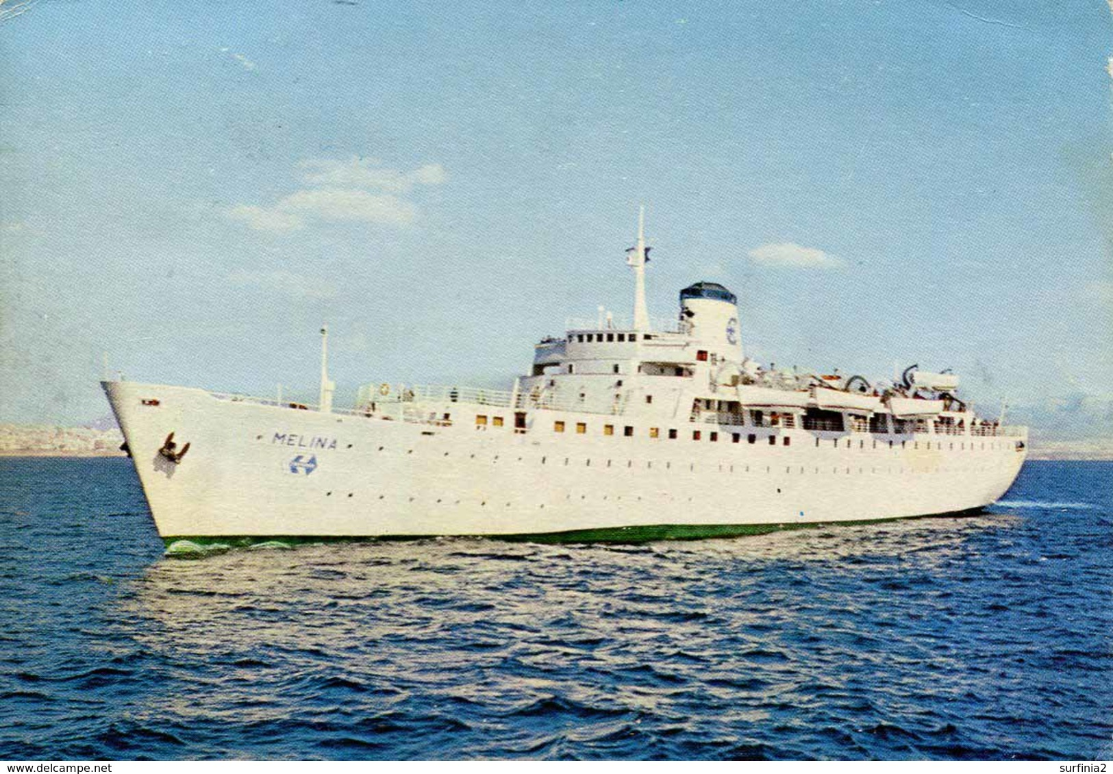 "SHIPPING - CLARKSON'S CRUISE SHIP ""MELINA"" Ship88 - Steamers"