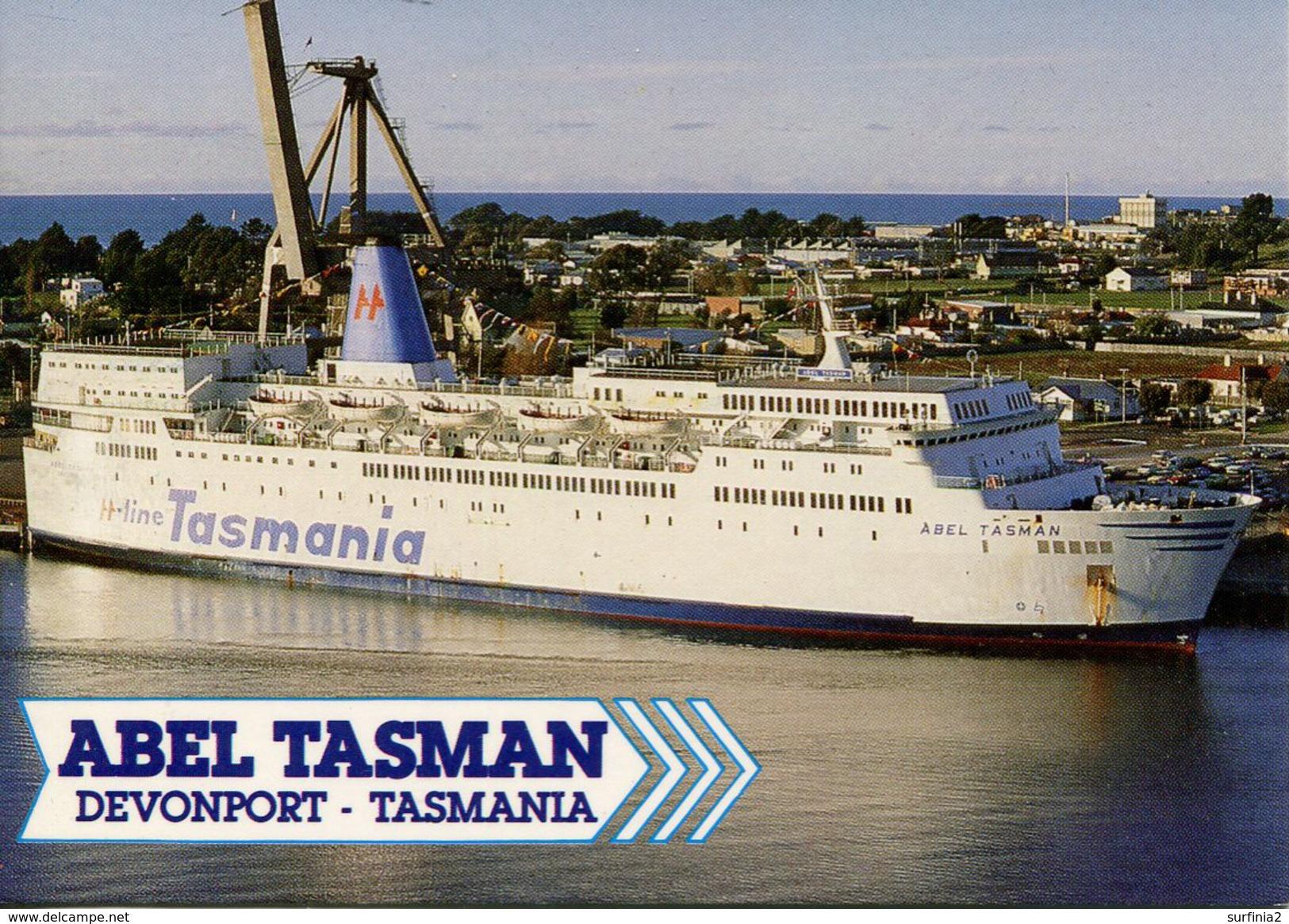 "SHIPPING - ""ABEL TASMAN"" At DEVONPORT, TASMANIA Ship109 - Steamers"