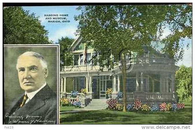 Ohio ~ MARION ~ Harding Home And Museum Postcard 8137v - United States