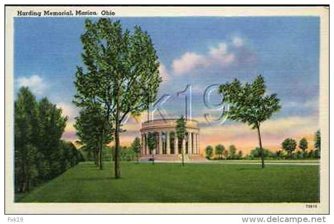 Ohio ~ MARION ~ Harding Memorial Postcard 8166v - United States