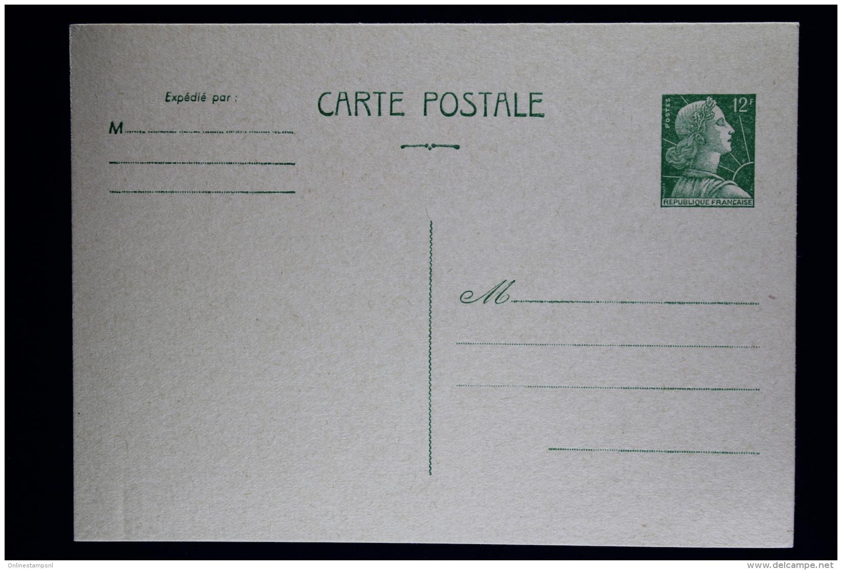 France  Carte Postale Muller  Type  A2  1955 - Biglietto Postale