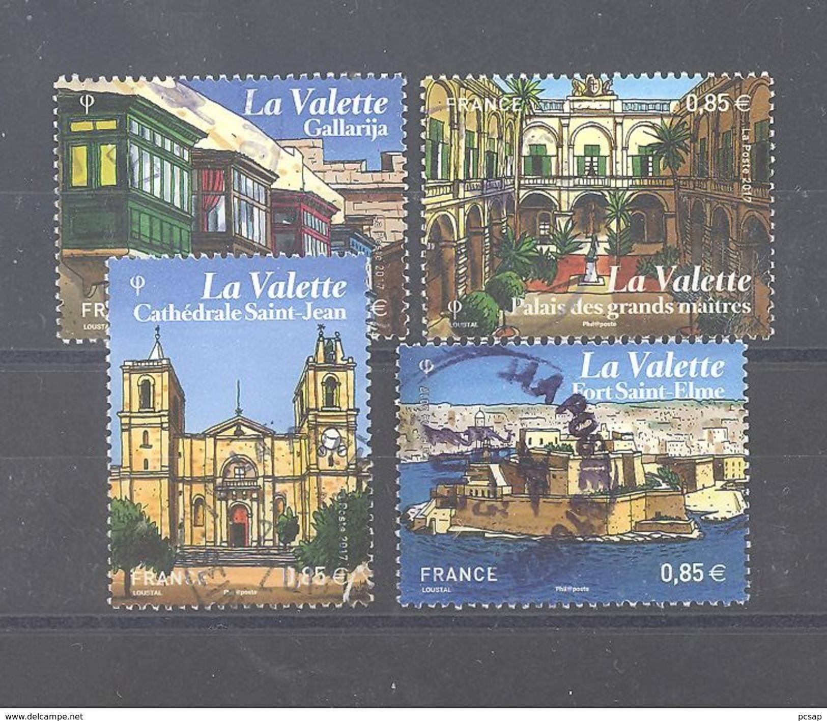 """France Oblitérés (Les 4 Timbres Du Bloc """"Malte La Valette"""") (cachet Rond) - France"""