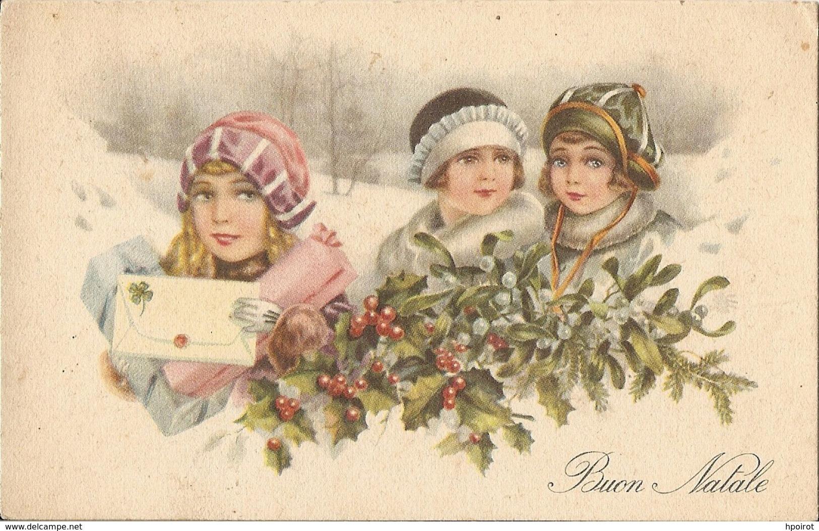 BUON NATALE - FORMATO PICCOLO - VIAGGIATA 1940 - (rif. E87) - Natale