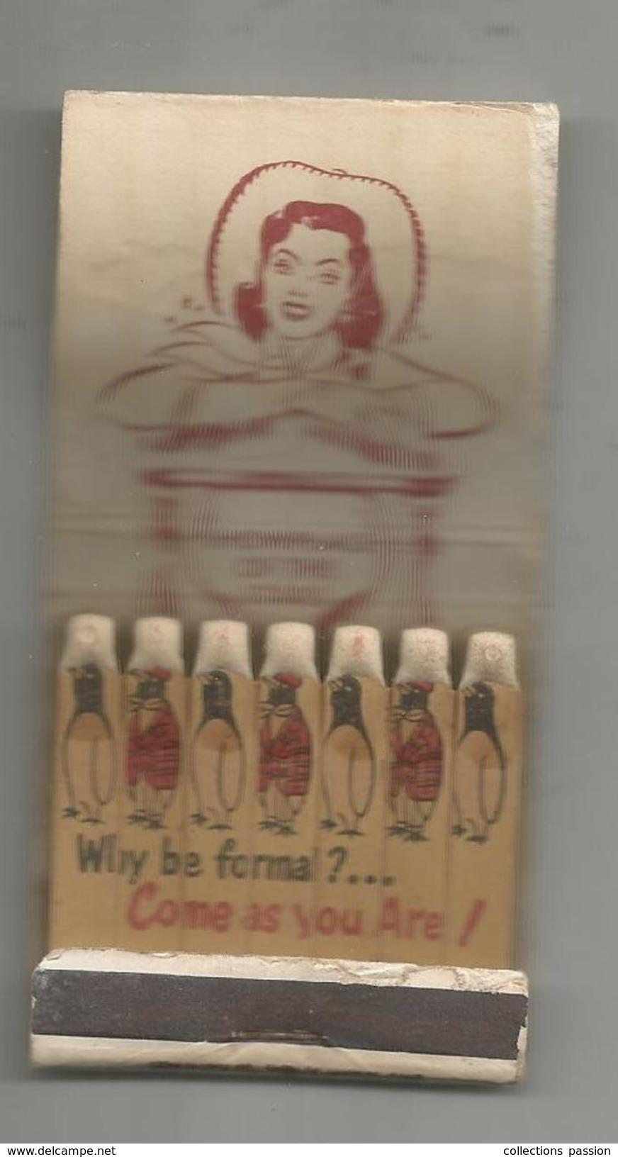 G-I-E , Tabac , Boite , Pochette D'ALLUMETTES, 3 Scans, Publicité, THE SANDS , LAS VEGAS , NEVADA - Matchbox Labels