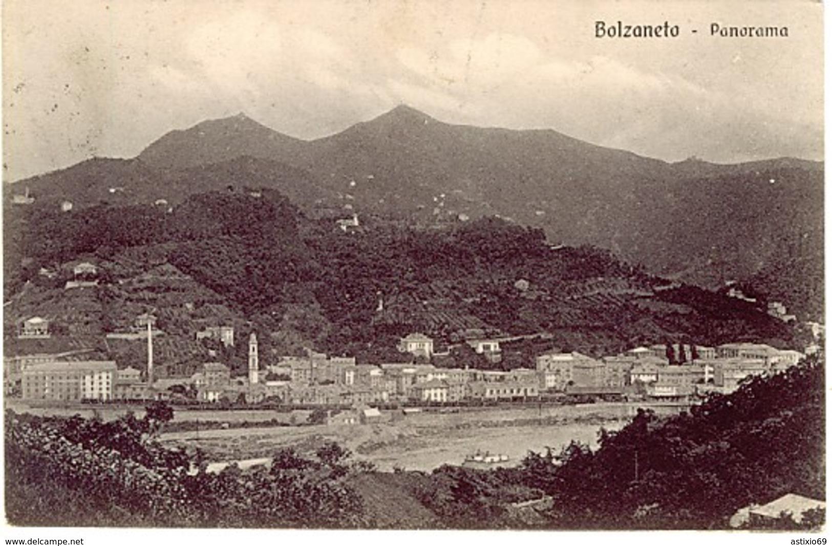 GENOVA BOLZANETO PANORAMA 1918 - Genova (Genoa)