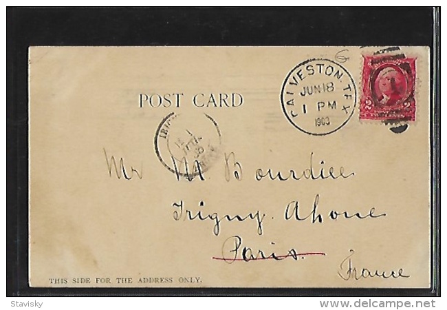 GALVESTON (Tx.) - Ursuline Convent - Gartenverein - Private Mailing Card - Publ. Ohlendorf - Galveston