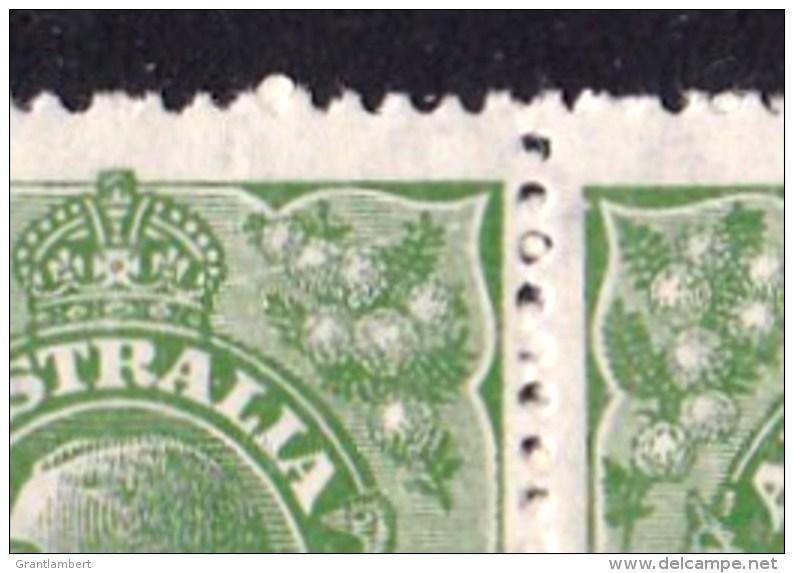 Australia 1926 King George V  1d Green SMW P14 Block Of 4 MH/MNH - 3 Varieties - Mint Stamps