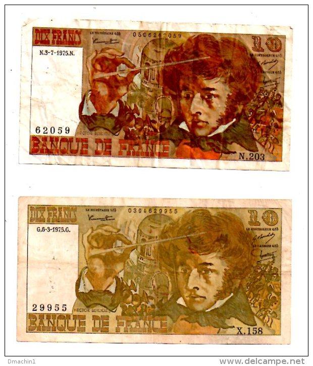 Un Lot De 2 Billets De 10 Francs -voir état - 1962-1997 ''Francs''
