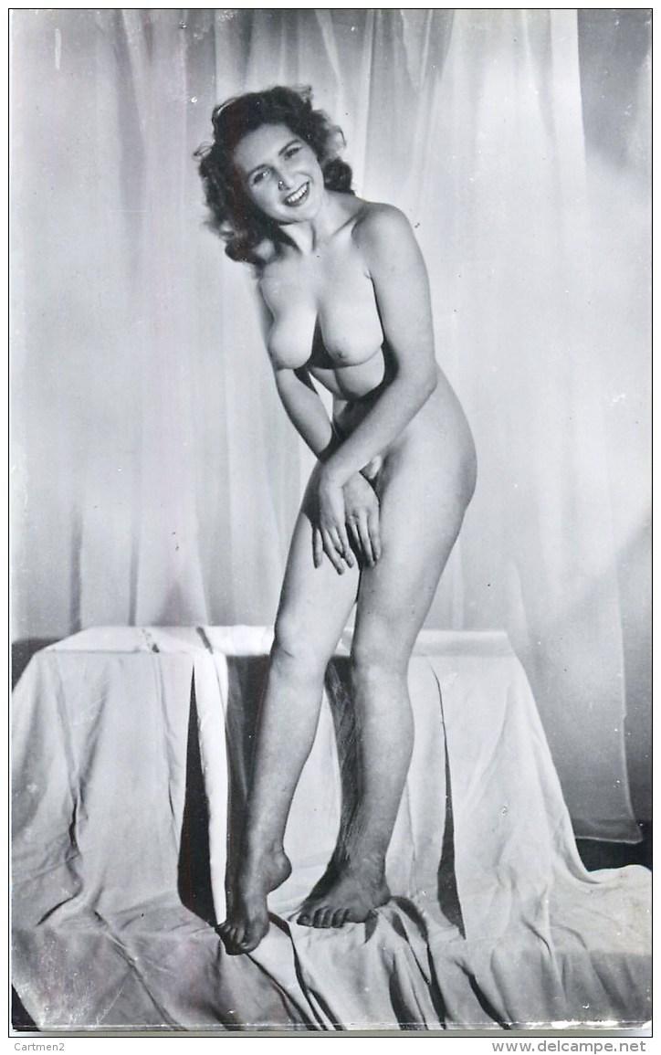 CARTE PHOTO : FEMME NU EROTISME EROTICISM NAKED WOMAN PIN-UP NU NUDE - Weibliche Schönheit Von Früher < 1920