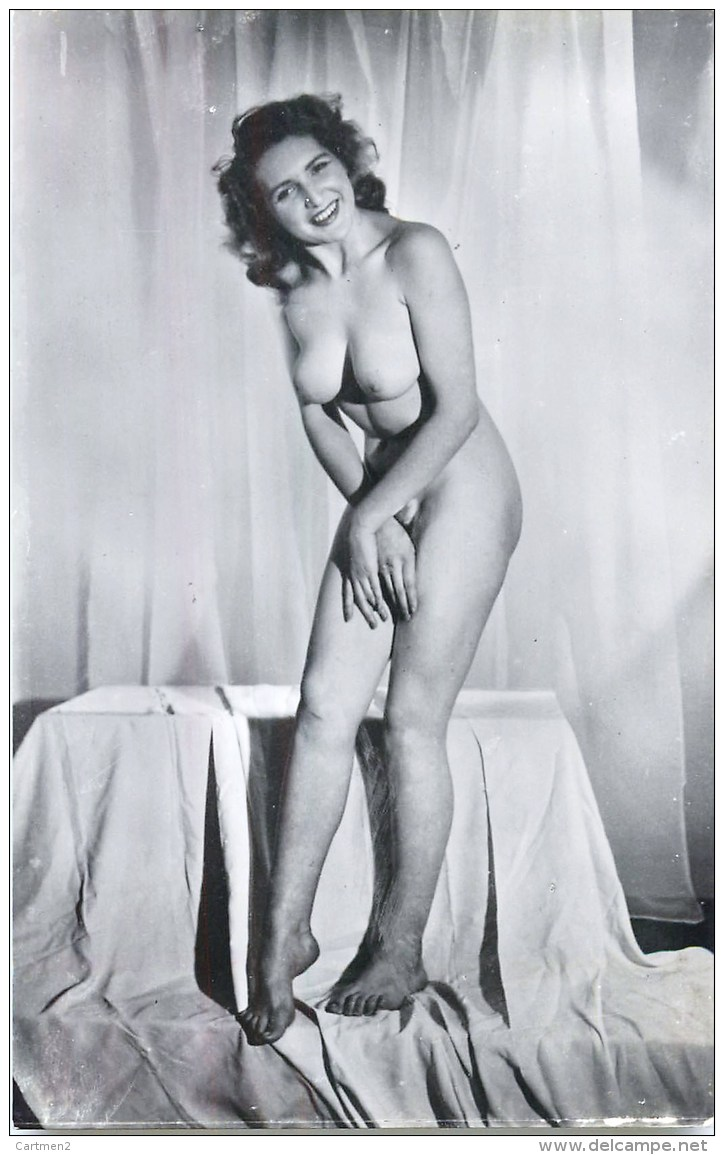 CARTE PHOTO : FEMME NU EROTISME EROTICISM NAKED WOMAN PIN-UP NU NUDE - Belleza Feminina < 1920