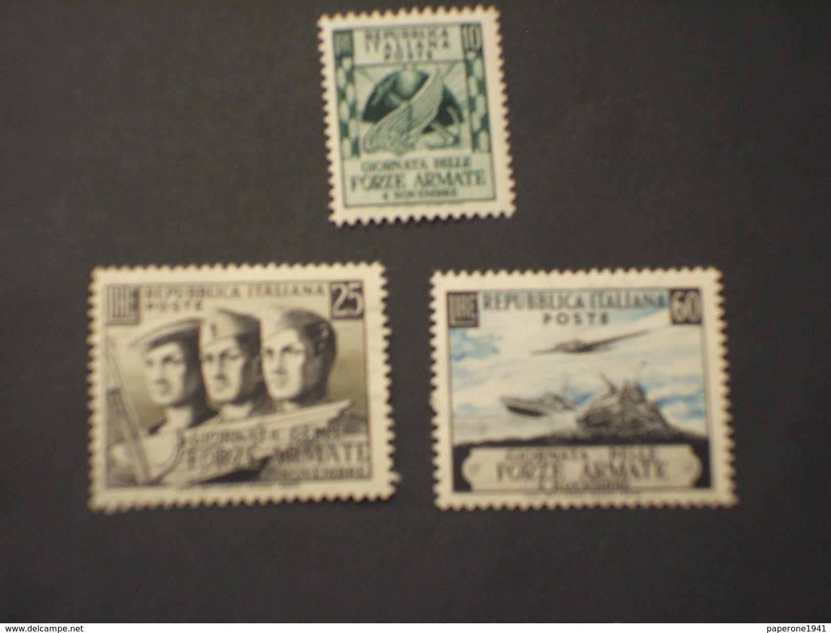 ITALIA - 1952 FORZE AEMATE 3 VALORI - NUOVO(++) - 6. 1946-.. Republic