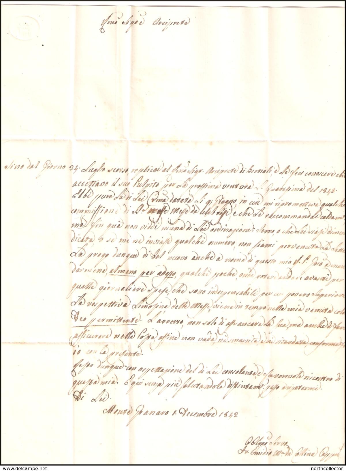 Pontificio A Lombardo Veneto ASSICURATA Da Monte Granaro A Codroipo - Italia