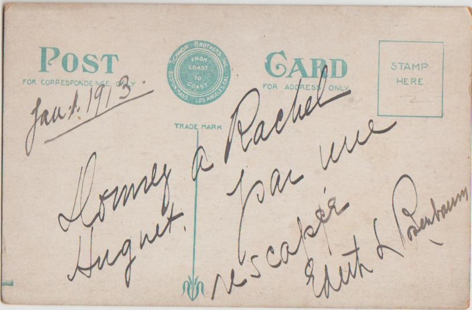 CPA PAQUEBOT TITANIC Autograph Miss Edith Louise ROSENBAUM RUSSELL 1879 1975 Survivor Signed 1913 Rare - Paquebots