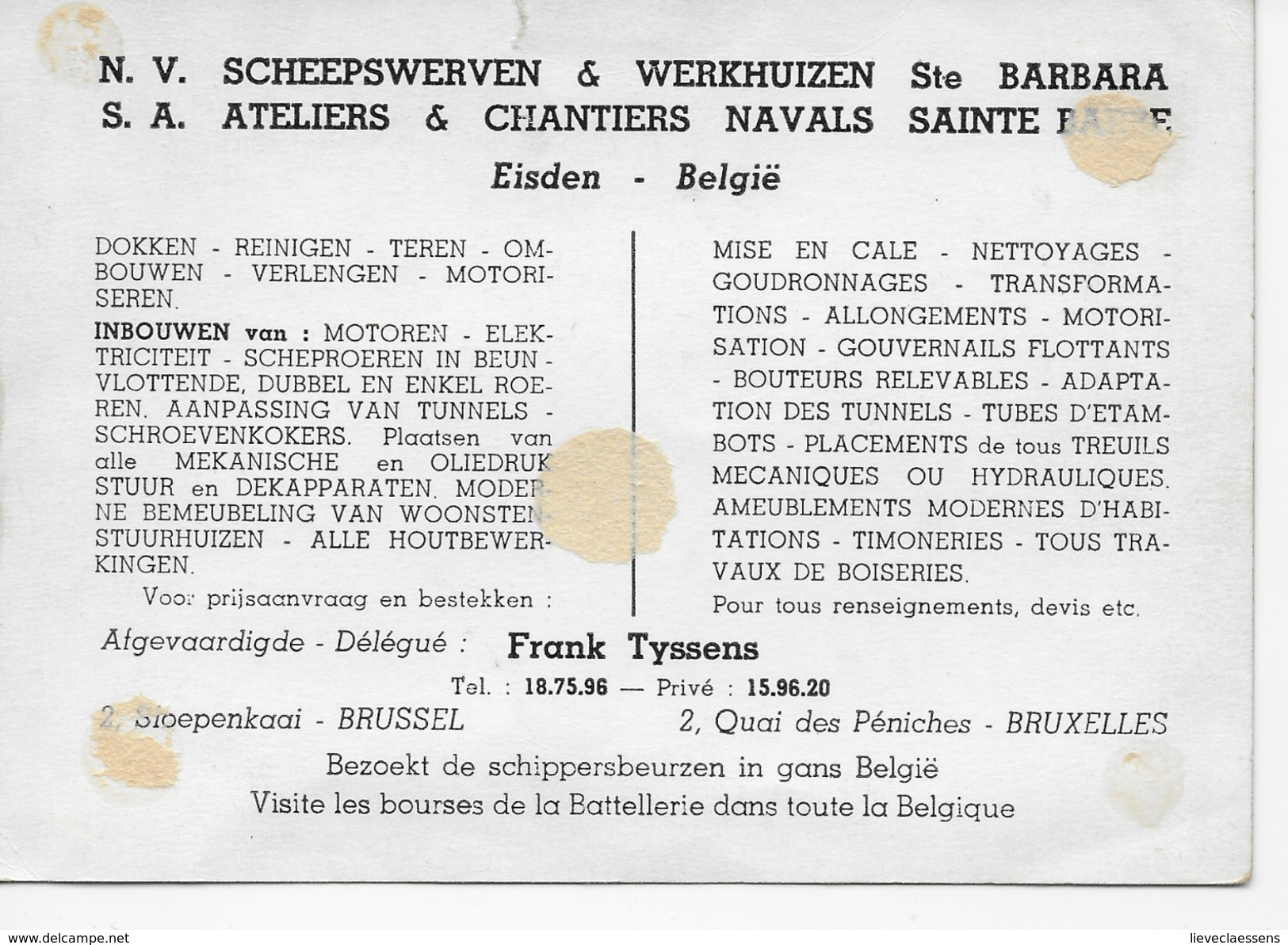 Eisden : Scheepswerven & Werkhuizen Ste Barbara - Maasmechelen