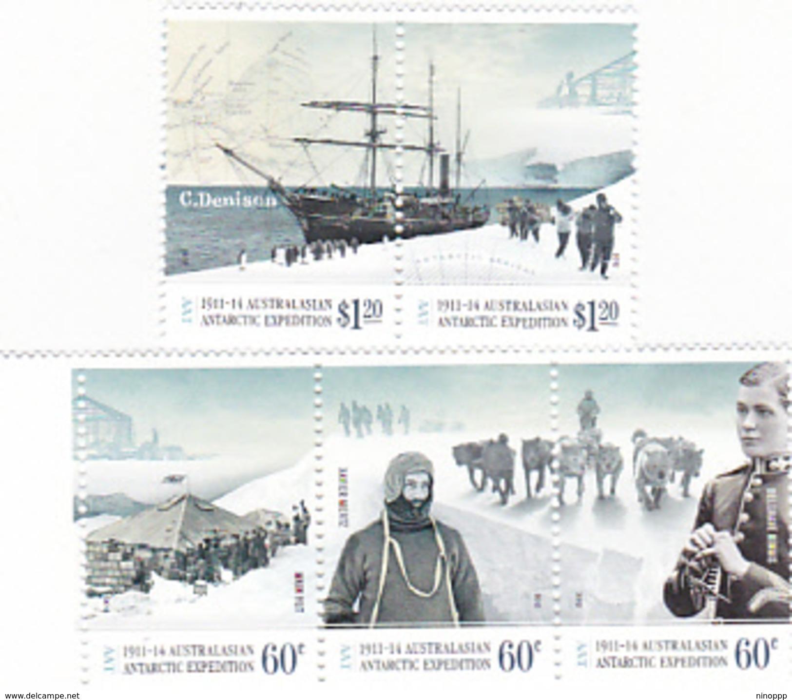 Australian Antarctic Territory  ASC 199-203 2012 Antarctic Expedition II Arrival And Exploration MNH - Australian Antarctic Territory (AAT)