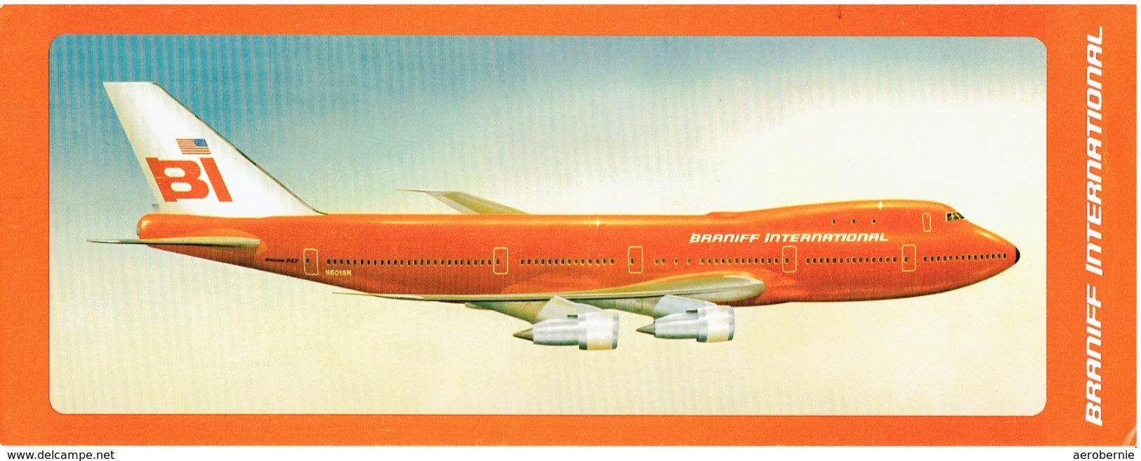 BRANIFF INTERNATIONAL - Boeing 747 (Airline Issue) - 1946-....: Moderne