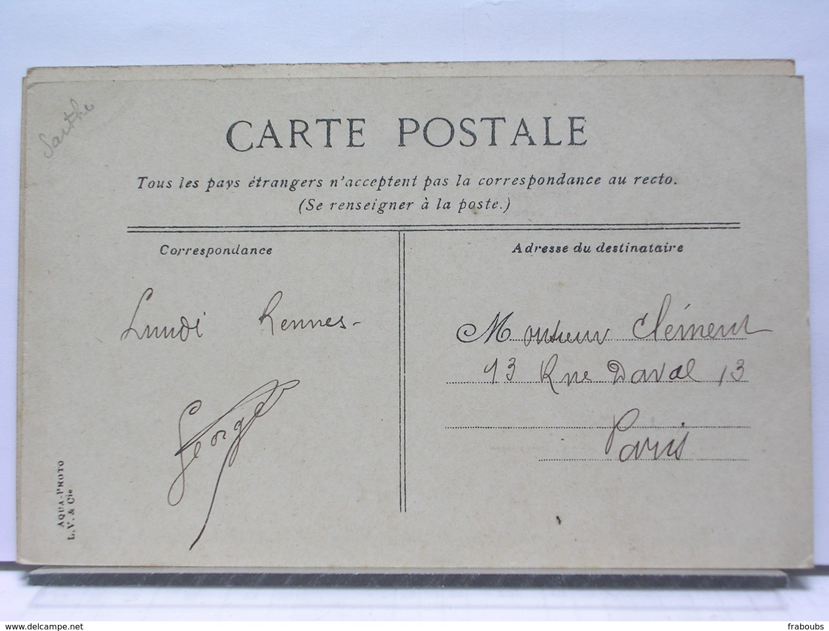 72 - CIRCUIT DE LA SARTHE - UNE DESCENTE AVANT SAINT CALAIS - ANIMEE - AUTOMOBILE - Saint Calais