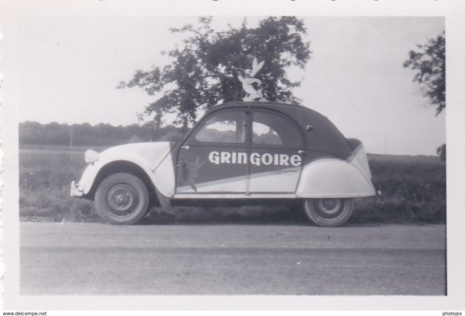 Trois Petites Photos : Voiture 2 Cv Citroën Publicitaire D'un Représentant   Gringoire (du Loiret 45) - Automobiles