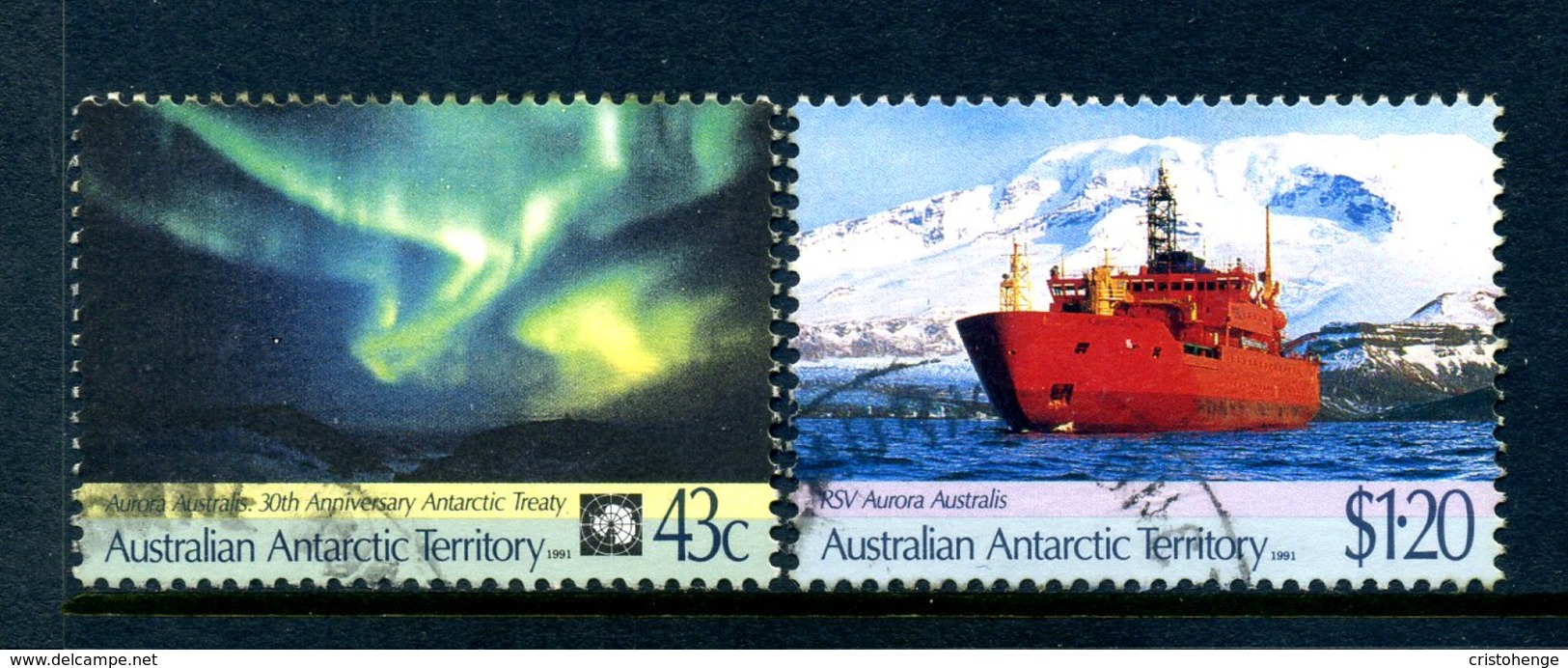 AAT - Australia 1991 30th Anniversary Of Antarctic Treaty Set Used - Australian Antarctic Territory (AAT)