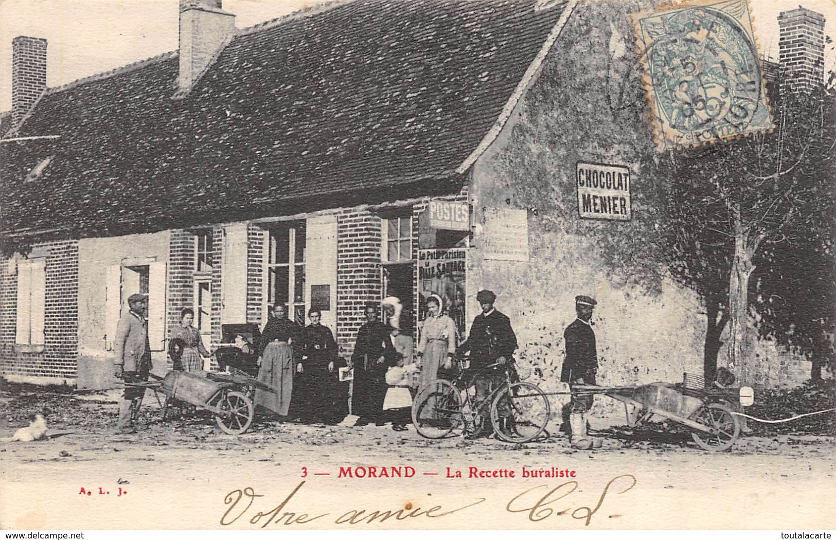 CPA 37 MORAND LA RECETTE BURALISTE 1905 - France