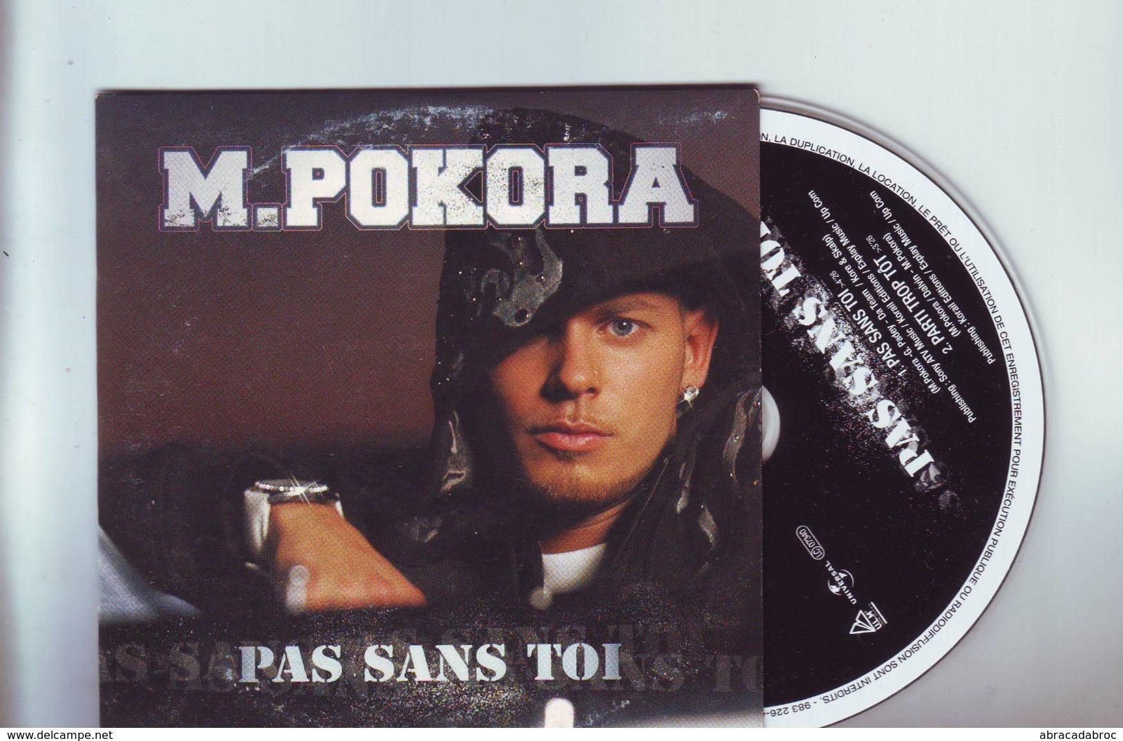 Cd M.Pokora -- 2 Titres : Pas Sans Toi / Parti Trop Tot - Disco, Pop