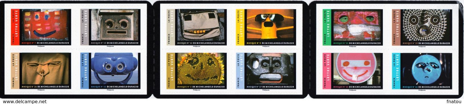 France, Masks, Booklet Of 12, 2017, MNH VF - Booklets