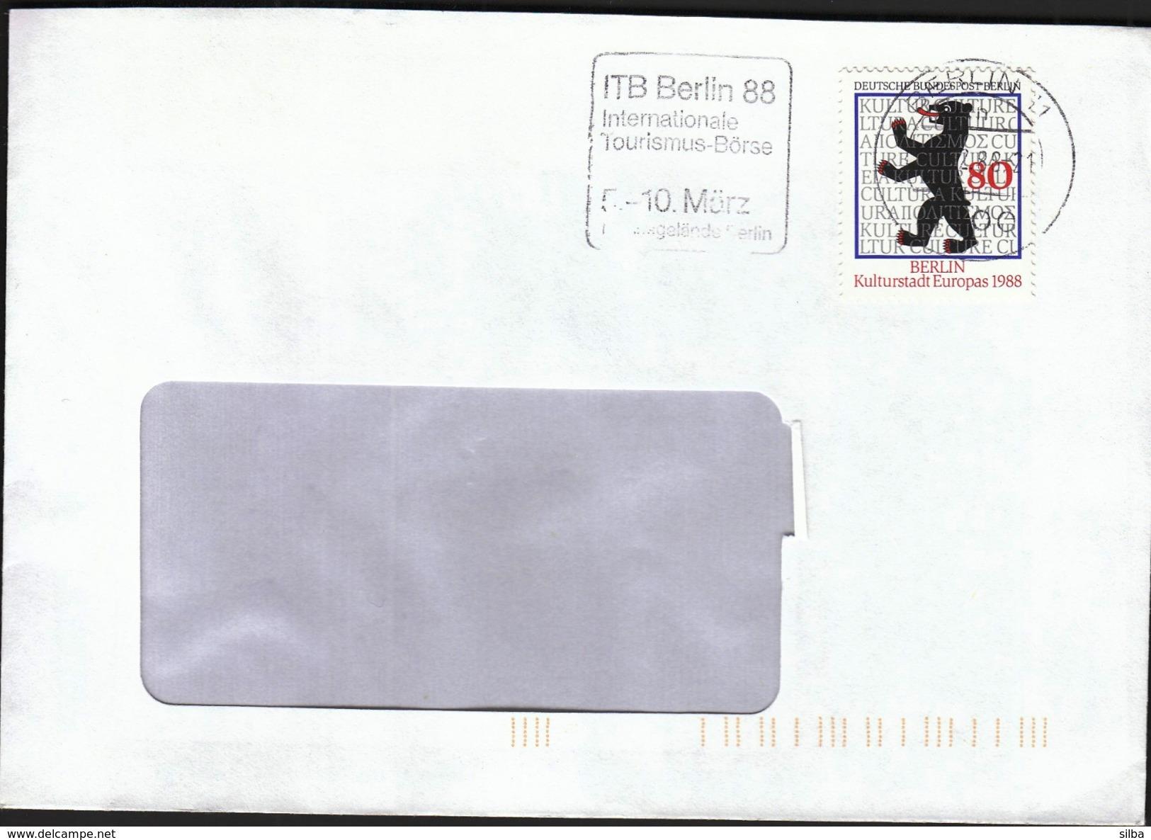 Germany Berlin 1988 / Tourism / ITB Berlin 88 / Internationale Tourismus Börse / Machine Stamp - Holidays & Tourism