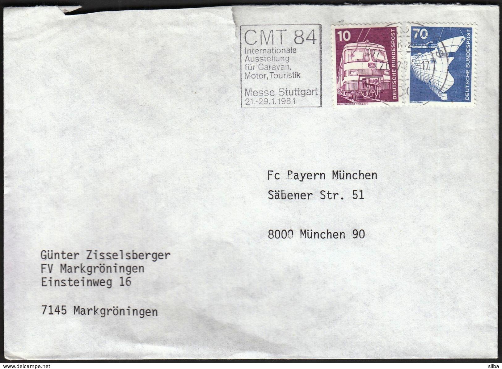 Germany Stuttgart 1984 / Tourism / CMT 84 / Internationale Austellung Für Caravan, Motor, Touristik / Machine Stamp - Holidays & Tourism