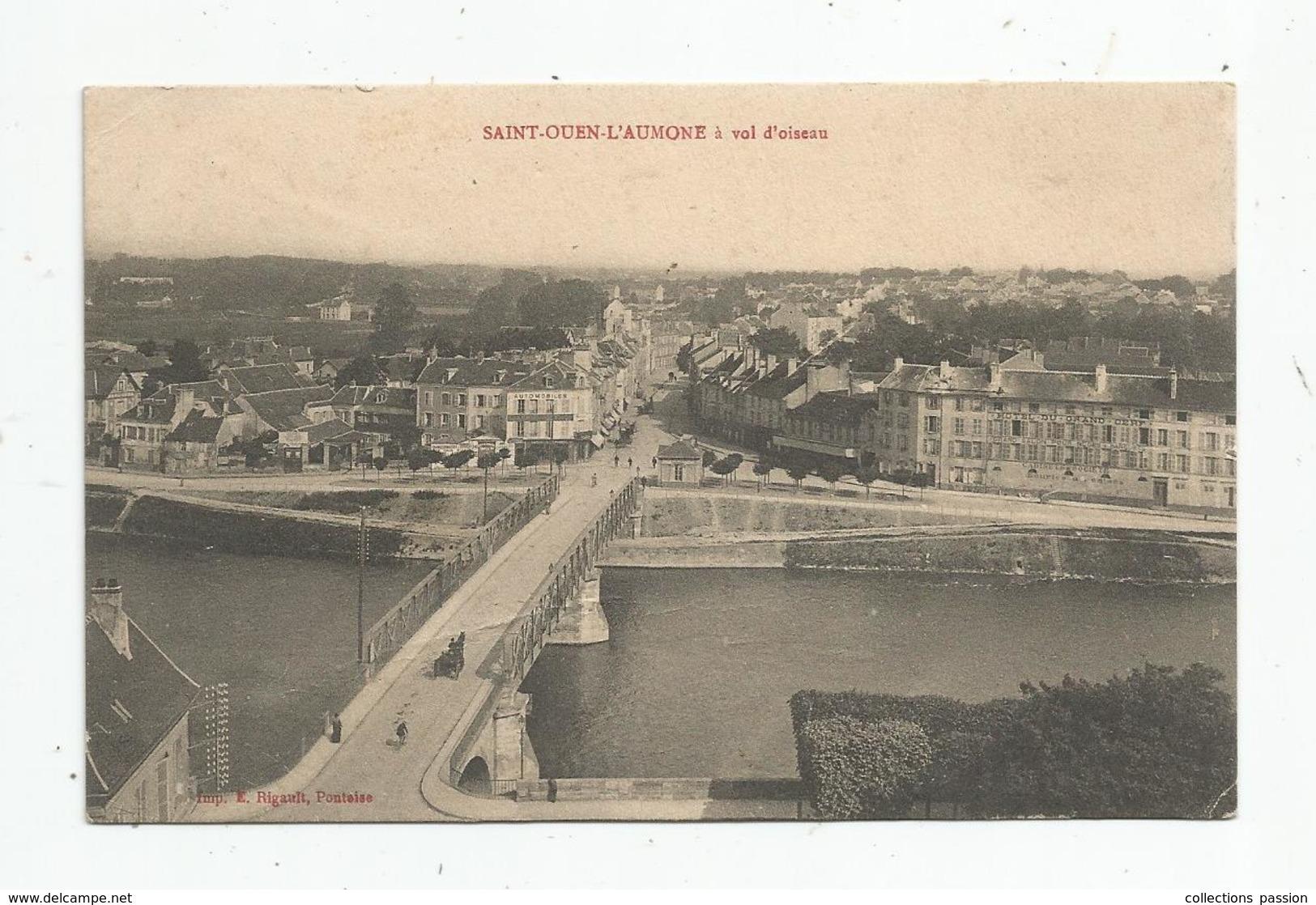 Cp , 95 , SAINT OUEN L'AUMONE à Vol D'oiseau , écrite 1913 - Saint-Ouen-l'Aumône