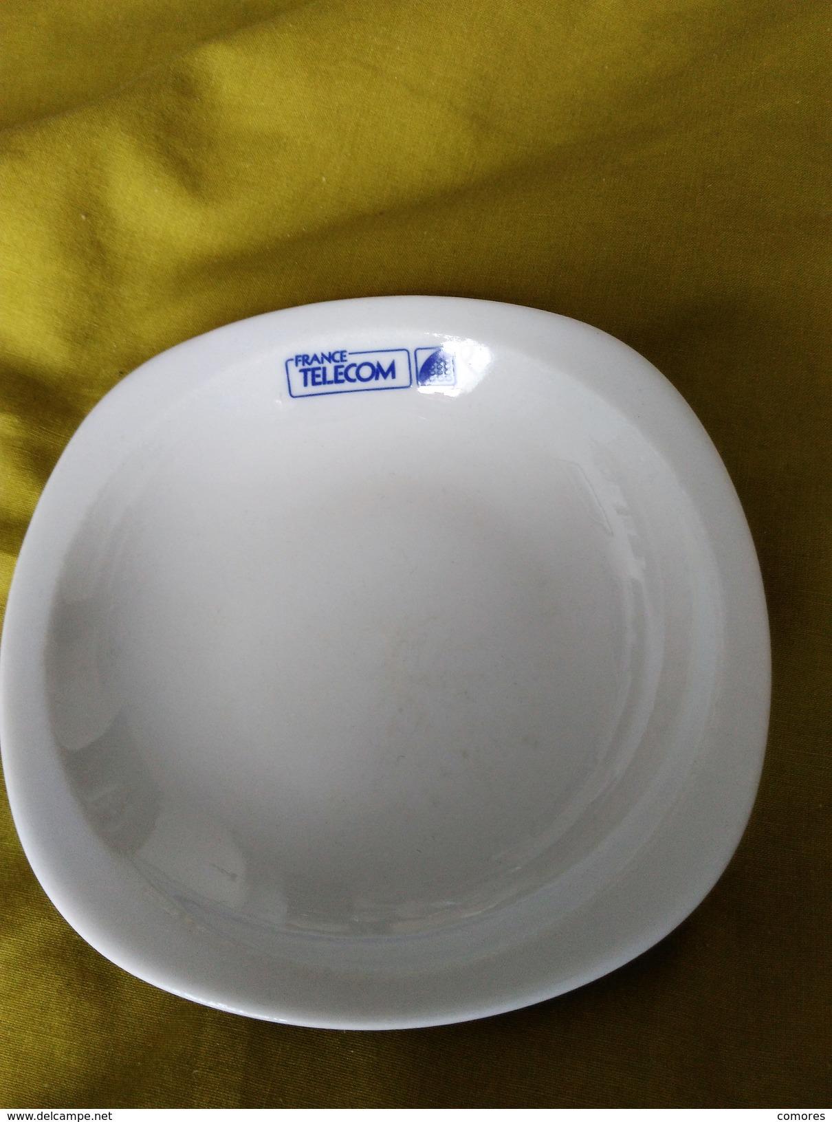 Assiette Historique Sérigraphiée France Telecom Ancien Logo - Plates