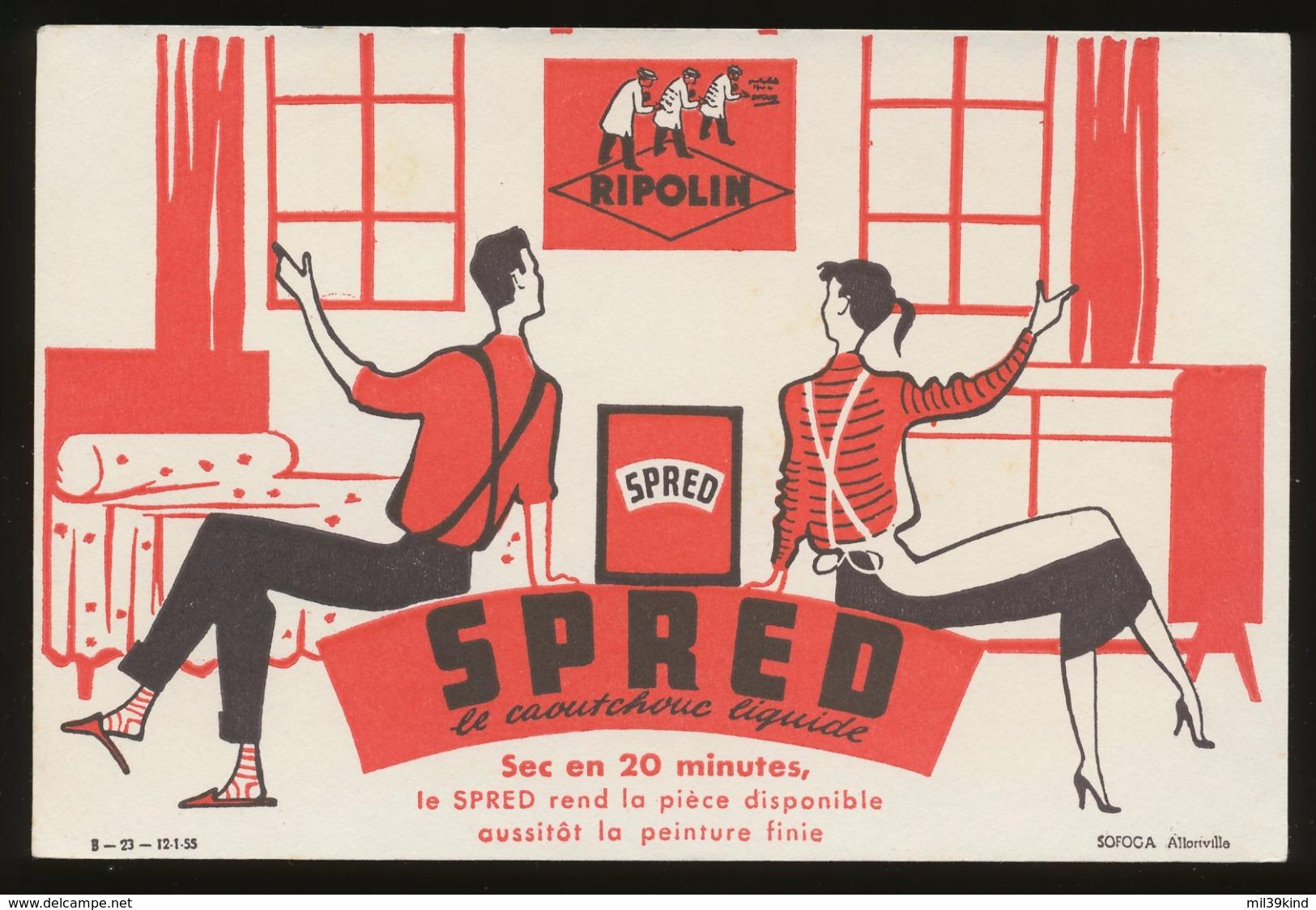 Buvard - PEINTURE SPRED LE CAOUTCHOUC LIQUIDE - Produit Ripolin - S