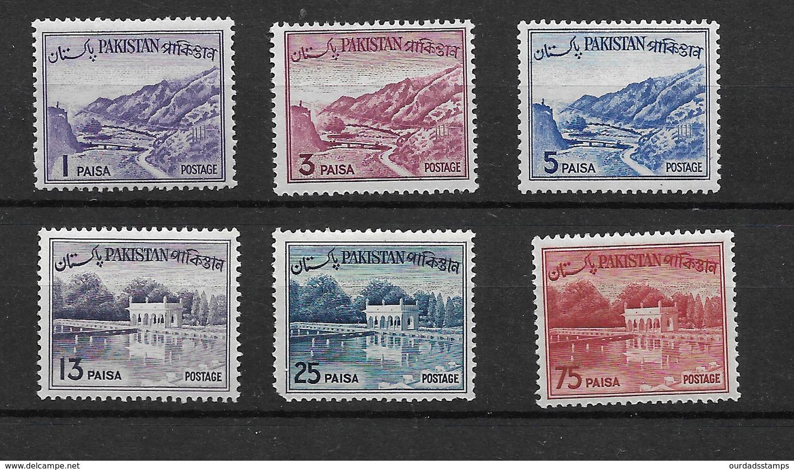 Pakistan 1961 Khyber Pass/Shalimar Gardens, Selection To 75p Mint (5067) - Pakistan