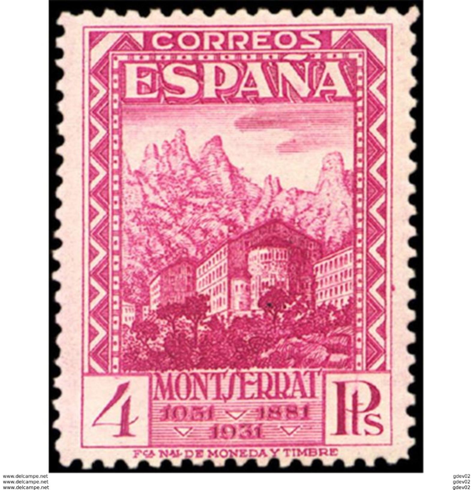 ES647STV-LTV***647STARIC.Spain.Esgane.Monasterio De La VIRGEN DE MONTSERRAT 1931 (Ed 647**) - Iglesias Y Catedrales