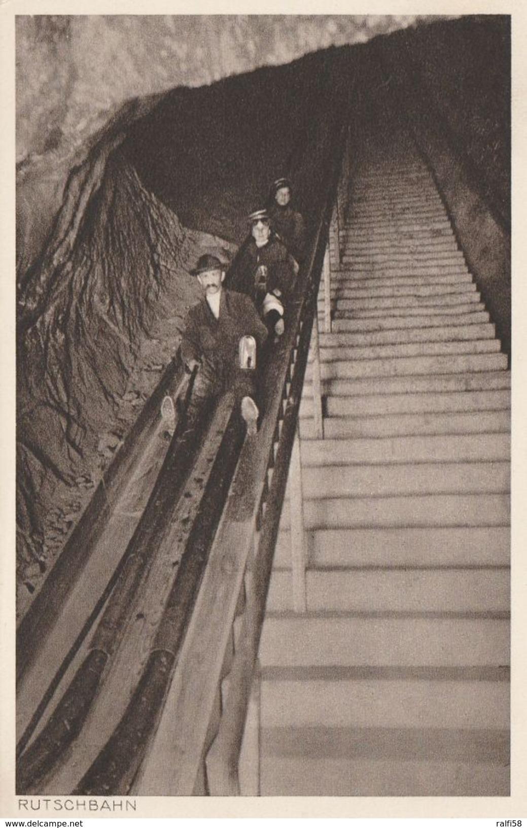 1 AK Germany Bayern * Rutschbahn Im Berchtesgadener Salzbergwerk - Das älteste Aktive Salzbergwerk In Deutschland * - Berchtesgaden