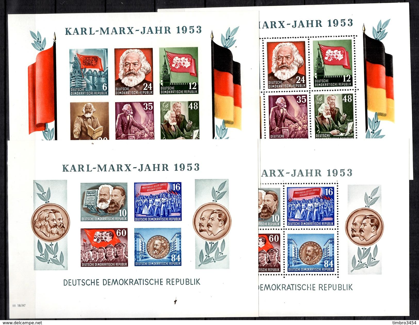 Allemagne/RDA Blocs-feuillets YT N° 3 Et 3A Dentelés Et Non-dentelés Neufs ** MNH. TB. A Saisir! - [6] Democratic Republic
